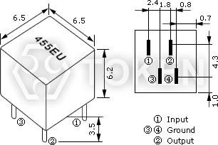 Communication Ceramic Filters Ltm 455 450 U W Token