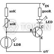 Photoresistor CdS, Light Dependent Resistor LDR - Token Components
