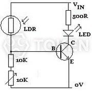 Photoresistor CdS, Light Dependent Resistor LDR - Token Components