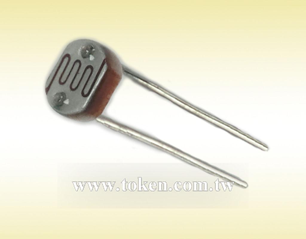 Photoresistor Cds Light Dependent Resistor Ldr Token Components Resistors