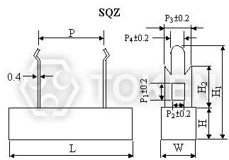 Ceramic Housed Cement Resistors Sq Token Components